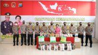 Pimpinan Kepolisian Sumut Serahkan Bantuan Untuk Korban Bencana di Sulbar dan Kalsel