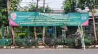 Koramil 07/Cipayung Pasang Banner Pendaftaran Calon Tamtama PK TNI AD Gelombang I TA.2021 Panda Jaya