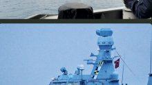 "Bendera ""Pray for KRI Nanggala"" Berkibar di Geladak Kapal Perang Turki"""