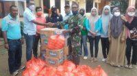Diskominfotik Bima Salurkan Bantuan Pada Korban Terdampak Banjir Monta