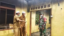 Bupati Pasbar Tinjau Korban Kebakaran di Ujung Gading