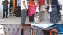 Gelar Pasar Murah, Nasir Djamil Distribusikan Seratusan paket sembako Di Aceh