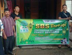 PT SBS Bagikan 314 Paket Sembako Ramadhan Pada Warga Sekitar Pabrik