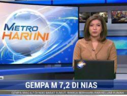 Gempa Dekat Nias Barat: Metro TV Langsung Wawancarai Bupati Nias Barat Khenoki Waruwu