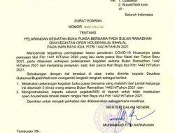 Bupati mengeluarkan Surat Edaran Larangan kegiatan Buka Puasa bersama serta Halal Bihalal Pada Hari Raya Idul Fitri 1442 H