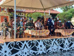 Satgas Pamtas Yonarhanud 16 Turut Berpartisipasi Dalam Apel Gelar Pasukan Operasi Ketupat Kayan 2021
