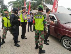 Pos Penyekatan Larangan Mudik Polda Sumut di Jaga Personel Brimob Bersenjata