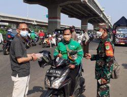 Babinsa Bintara Jaya Bersama Tiga Pilar Lakukan PPKM dan Imbau Prokes Pada Warga