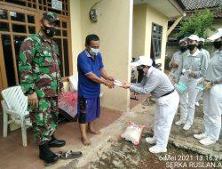 Budha Tzu Chi Bersama Koramil 04/Jatiasih Distribusikan Bantuan Sosial Peduli Covid-19 Kepada Warga Membutuhkan