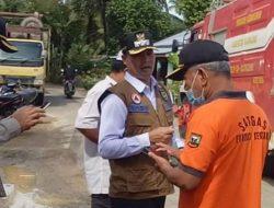 Wabup H. Iraddatillah, S. Pt Kunjungi Lokasi Bencana Alam Pada Hari Kedua Lebaran