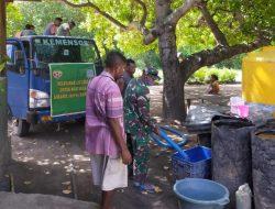 Hari Kedua, Koramil 03 Maritaing Distribusi 15000 Liter Air Bersih Bagi Masyarakat