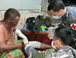 Tiga Nelayan korban Luka Bakar Tiba Dipangkalan TNI AL Ranai