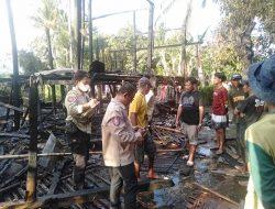 Satu Rumah Ludes Terbakar Di Kampung Kaili Bonto Lebang