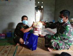 Pererat Hubungan Antara TNI dan Masyarakat, Anggota zidamXII/Tpr Giat Baksos Bagi Sembako