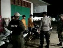Babinsa Koramil 1015-17/Seruyan Tengah Bersama Babinkamtibnas Gencarkan Operasi Yustisi