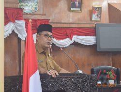 Rapat Paripurna Penyampaian Jawaban Pemerintah atas Pandangan Umum Frakasi-fraksi terkait Nota Pengantar Bupati Solok