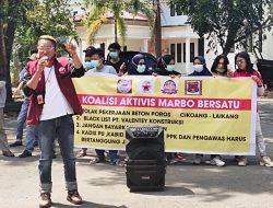 Koalisi Aktivis Marbo Bersatu Geruduk Kantor Dinas PU Kabupaten Takalar