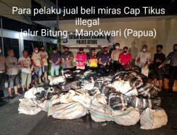 Tim Resmob Polres Bitung Berhasil Amankan Cap Tikus Sebanyak 3.136 Botol Aqua