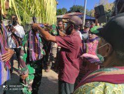 Hadiri Kegiatan Monev Bulan Bakti Gotong Royong, Babinsa Sosialisasi Vaksin Covid-19