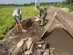 Progres beberapa Target pekerjaan TMMD Sengkuyung II Kodim 0726/Sukoharjo berjalan dengan lancar