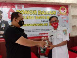 Polres Batu bara serahkan 120 Kantong Darah kepada Palang merah Indonesia