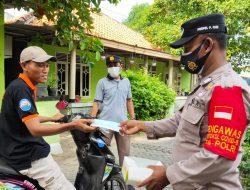 Polres Kep Seribu & Jajaran Bagikan 1.500 Masker Medis Ke Warga