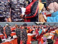 Serbuan Vaksinasi Hari Ke-2 Koarmada II Dan Pemkot Surabaya Berlimpah Peserta