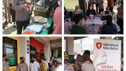 Kapolda Metro Jaya Tinjau soft Launching Vaksinasi merdeka Di SD 01 Klender.