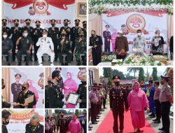 HUT POLRI Ke-75, Kapolres Pasbar Beri Penghargaan Mitra, 36 Bintara Naik Pangkat