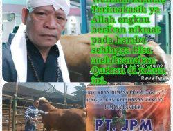 Hari Raya Idul Adha 1442 H/2021 M- Pak Haji Iskandar(Jpm) Merasa Bersyukur walaupun situasi Pandemi Covid-19 Masih Bisa melaksanakan Qurban