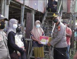 Dampak Pandemi covid, Kapolres Pangkep Salurkan Bansos di Pulau