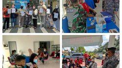 TNI AL Lanal Balikpapan Kembali Gelar Serbuan Vaksinasi Covid-19 Jenis Sinovac