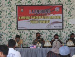 Kapolres Pangkep Launching Kampung Bebas Narkoba