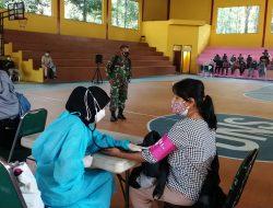 Hari Kedua Kodim 0507/Bekasi Gelar Serbuan Vaksinasi Covid-19 Dosis Ke Dua