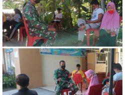 Melalui metode komsos Babinsa Koramil 03/Sungai Sariak, Serda Suwirman melaksanakan komsos dengan warga