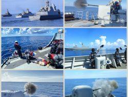 Dengan Koordinasi Yang Solid , Kapal Perang TNI AL Dan AL Singapura Berhasil Kuasai Laut Natuna