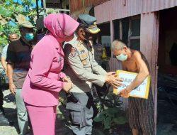 Kunjungan Ke Pulau Saugi, Kapolres Pangkep Bawa Paket Bantuan