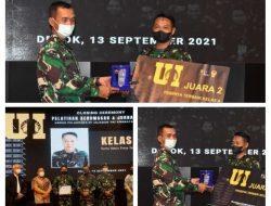Pelatihan Jurnalistik dan Kehumasan TNI AD Tahun 2021 Resmi Ditutup.