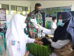 Serbuan Vaksin Kodim Menyisir Siswa-Siswi SMA Di Kabupaten Pangkep