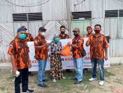 MPC Pemuda Pancasila dan indika foundation turun kan sembako