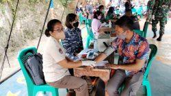 TNI AL LANAL BANTEN SIAGAKAN GERAI VAKSIN COVID-19  DI CILEGON BANTEN