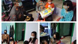 Kapolsek Tanjung Duren, Kompol Rosana Albertina Labobar Datangi kediaman Khanza Yang Yatim Piatu Akibat Covid-19
