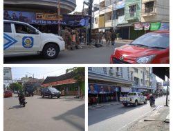 Patroli penegakan disiplin prokes satpol PP Muara Enim