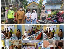 Tim Polsek Tanjung Pura Monitoring Vaksinasi Dosis 1 Di SMAN1 Tanjung Pura