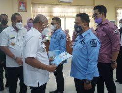 Bupati Jeneponto H. Iksan Iskandar Memberikan Sambutan Sekaligus Menutup Pelatihan Dasar (Latsar) CPNS Secara Resmi