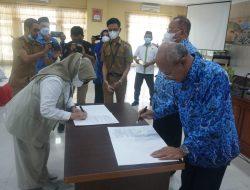Pemerintah Daerah (Pemda) kabupaten Jeneponto Bersama Bulog Tekken MOU