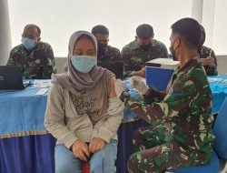 KARUMKITAL DR. KOMANG MAKES TNI AL LANTAMAL I  PASTIKAN VAKSINASI RUTIN TERUS DILAKSANAKAN