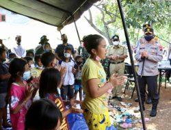 Kunjungi Ambarawa, Kapolda Jateng Bantu dan Hibur Warga Terdampak Gempa